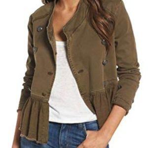 FREE PEOPLE Women's Military Fringe Jacket Small